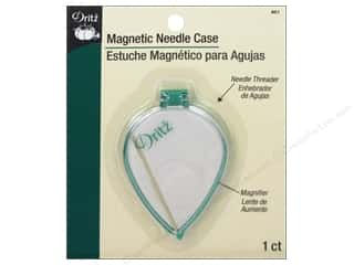 Dritz Magnetic Needle Case With Magnifier &amp; Threader