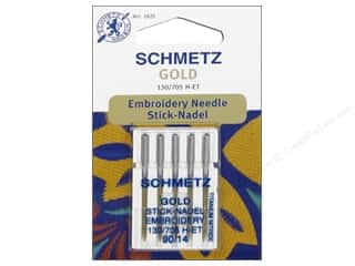 schmetz embroidery needle: Schmetz Machine Embroidery Needle Gold 90/14