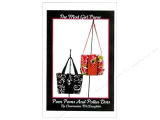 Whistlepig Tote Bags / Purses Patterns: Pom Poms And Polka Dots The Mod Girl Purse Pattern by Charmaine McLaughlin