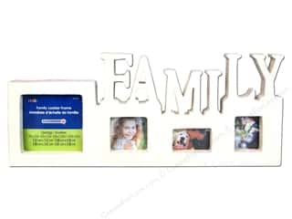"Plaid Wood Frame Family Ladder 11.75""x 5.25"""