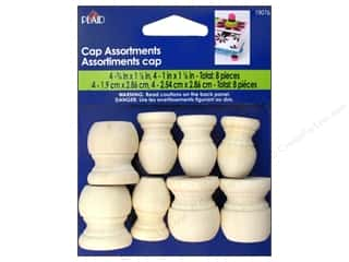 Woodworking Clearance Crafts: Plaid Wood Turnings Cap Assortments 8 pc.