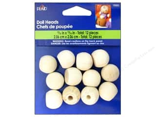 Plaid Wood Turnings Doll Heads 3/16 in. 12 pc.