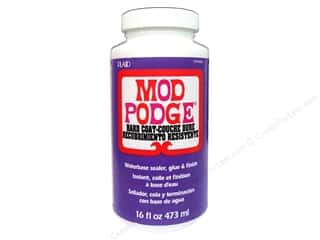 Glue and Adhesives Plaid Mod Podge: Plaid Mod Podge Hard Coat 16oz