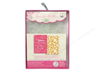 "Embossing Aids 6"": Sizzix Embossing Folders Brenda Walton Textured Impressions Love & Swirling Vines Set"