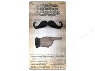 Sizzix Movers & Shapers Magnetic Die Set 2PK Mini Mustache & Pointed Finger