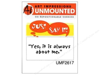 Clearance Art Impressions Rubber Stamp: Art Impressions Rubber Stamp Just Say It! About Me