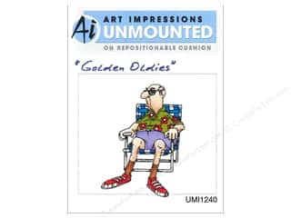 Clearance Art Impressions Rubber Stamp: Art Impressions Rubber Stamp Golden Oldies Norm