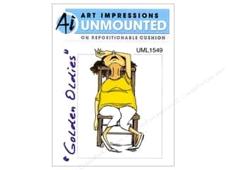 Clearance Art Impressions Rubber Stamp: Art Impressions Rubber Stamp Golden Oldies Madge