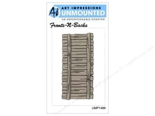 Art Impressions Rubber Stamp Front-N-Backs Fence