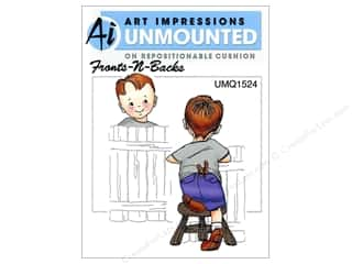 Art Impressions Rubber Stamp Front-N-Backs Peter