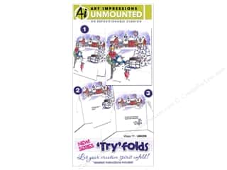 Clearance Art Impressions Rubber Stamp: Art Impressions Rubber Stamp Try Folds Village