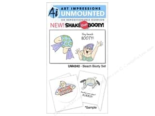 Beach & Nautical Clearance: Art Impressions Rubber Stamp Shake Your Booty! Beach Booty Set