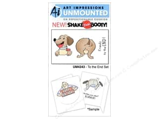 Art Impressions Rubber Stamp To The End Set