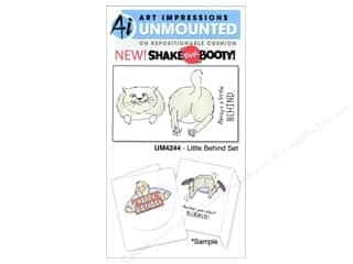 Art Impressions Rubber Stamp Little Behind Set