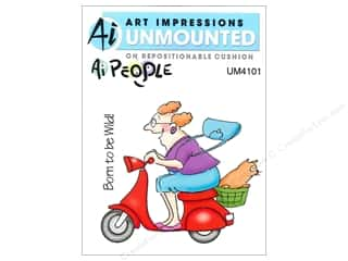 Art Impressions Rubber Stamp Ai People Mad Rider Set