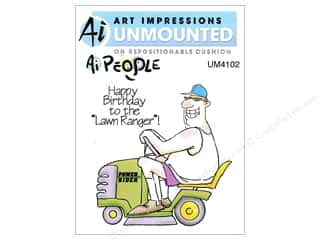 Brandtastic Sale Ranger: Art Impressions Rubber Stamp Ai People Lawn Ranger Set