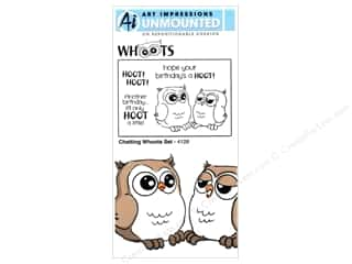 Art Impressions Rubber Stamp Whoots! Chatting Whoots Set