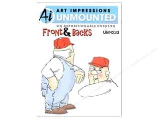 Clearance Art Impressions Rubber Stamp: Art Impressions Rubber Stamp Front & Backs Hal