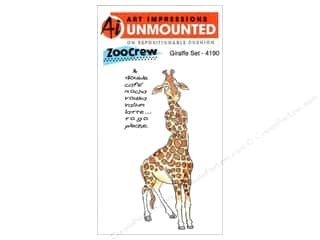 Clearance Art Impressions Rubber Stamp: Art Impressions Rubber Stamp ZooCrew Giraffe Set