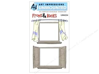 Art Impressions Rubber Stamp Front & Backs Curtain Window
