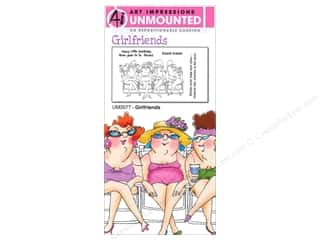 Art Impressions Rubber Stamp Girlfriends