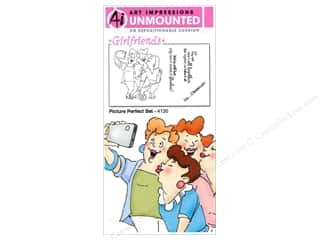 Clearance Art Impressions Rubber Stamp: Art Impressions Rubber Stamp Girlfriends Picture Perfect Set