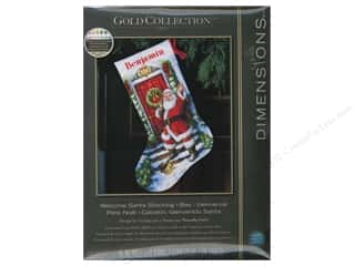 "even weave: Dimensions Cross Stitch Kit 16"" Stocking Santa"