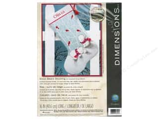 Dimensions Cross Stitch Kit 16&quot; Stocking Snow Bear