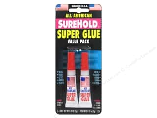 All-American Crafts: SureHold All American Super Glue .11 oz. 2 pc.