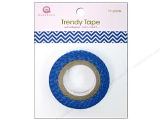 Queen&amp;Co Trendy Tape 10yd Skinny Minnie Chevron Bl