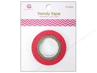 Queen&Co Trendy Tape 10yd Skinny Minnie Chevrn Pnk