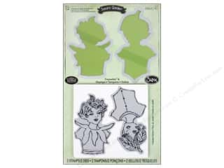 Angels/Cherubs/Fairies Clearance: Sizzix Framelits Die Set 2 PK with Stamps Garden Fairies by Susan Tierney-Cockburn