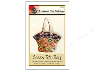 Quilted Trillium, The Tote Bags / Purses Patterns: Around The Bobbin Sassy Tote Bag Pattern