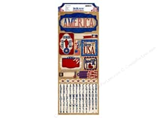 Bo Bunny Sticker Cardstock Anthem USA