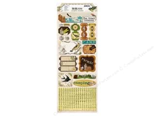 Bo Bunny Sticker Cardstock Trail Mix Camping