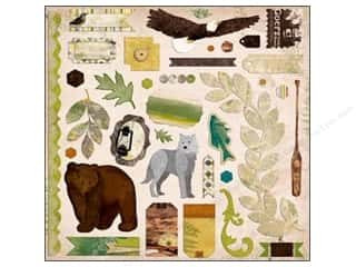 Bo Bunny Sticker Chipboard 12&quot;x 12&quot; Trail Mix