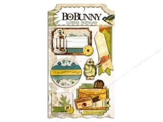 sticker: Bo Bunny Chipboard Stickers Layered Trail Mix