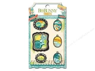 Anniversary Dollar Sale: Bo Bunny Trinkets 6 pc. Key Lime