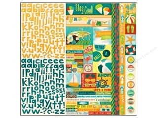 Clearance Blumenthal Favorite Findings: Bo Bunny Cardstock Stickers Combo Key Lime