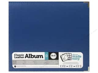 We R Memory Keepers Punches: We R Memory Keepers 3-Ring Album 12 x 12 in. Classic Leather Cobalt
