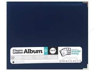 We R Memory Keepers Album 12 x 12 in Leather Country Blue