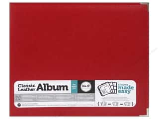 We R Memory Keepers Captions: We R Memory Keepers 3-Ring Album 12 x 12 in. Classic Leather Real Red