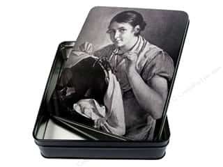 Mothers Day Gift Ideas Sewing: Tacony Storage Box Retro Tin Case Large