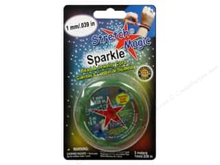Elastic Crafts with Kids: Stretch Magic Beading Cord 1mm x 16.4 ft. Sparkle Emerald