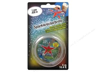 Stretch Magic Cord Sparkle 1mm Silver 5m