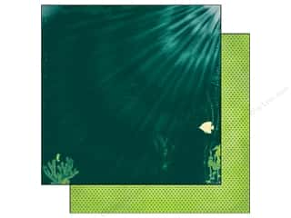 Clearance Blumenthal Favorite Findings: Bo Bunny 12 x 12 in. Paper Key Lime Deep Blue Sea (25 piece)
