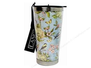 Paints Brown: Lang Travel Mug 16 oz. Blue Hydrangea