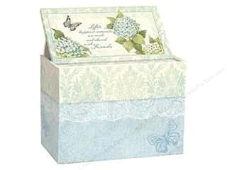 Boxes and Organizers Cooking/Kitchen: Lang Recipe Box 4 x 6 in. Blue Hydrangea