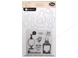 Graphic 45 inches: Sizzix Framelits Die Set 7 PK with Stamps Parfumerie by Graphic 45