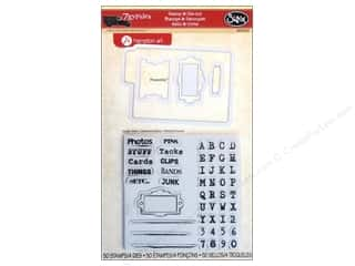 Dies ABC & 123: Sizzix Framelits Die Set 4 PK with Stamps Gypsy Files by 7Gypsies